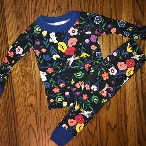 Hanna Andersson Size 80 Floral Pajamas